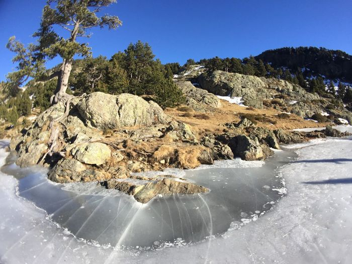 Montagne Frozen Lake Cold Winter ❄⛄ Water Surface