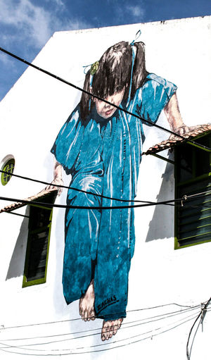Artist Artistic Braids Cable Canon350D Child Childhood Children Children Playing Climbing Facades Façade Giants Hanging Malaysia Painting Painting Art Painting Artwork Penang Penang Malaysia Streetart Streetphotography Traveling In Malaysia Traveling Malaysia Windows