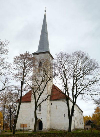 Low angle view of church against sky