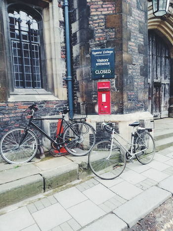 #EyeEmNewHere #Cambridge Bicycle Rack Stationary Bicycle Land Vehicle Communication Text Architecture Building Exterior Built Structure