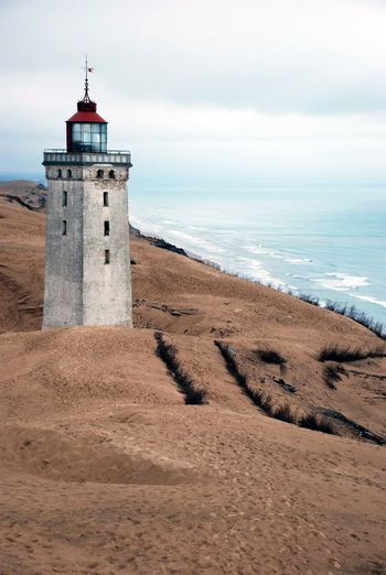 Beach Life Denmark Light Architecture Beach Building Built Structure Buried Guidance Horizon Horizon Over Water Land Lighthouse No People Sand Scenics - Nature Sea Sky Tower Tranquil Scene Tranquility Travel Destinations Water