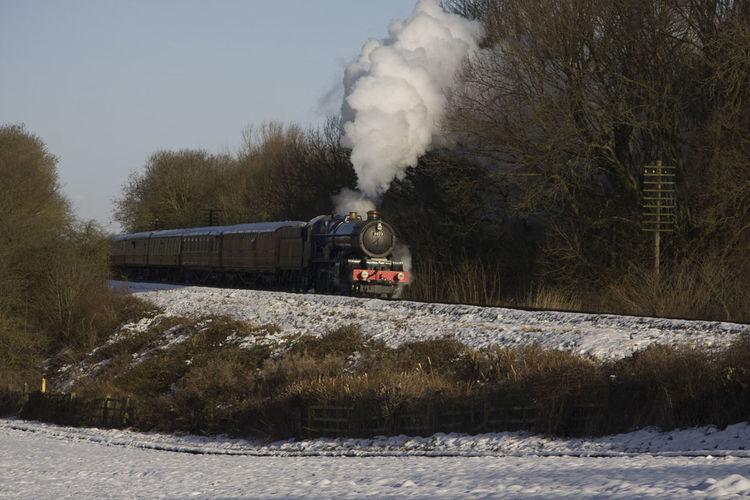 The Express Steam Steam Locomotive Railway Great Central Railway Train King Snow Winter Great Western Railway GWR