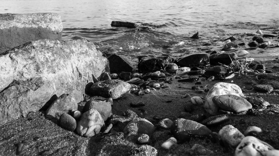 Beach Black And White Day Nature Outdoors Pebbles And Stones Rocks And Water Sea Shore Water