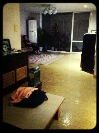 엄마의 숙면의 티비시청