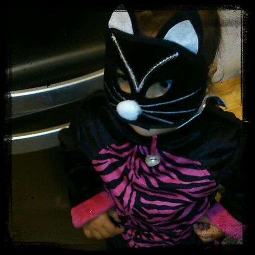 Halloweenparty Granddaughter Witches Cat