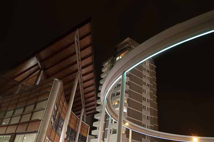 's Hertogenbosch Den Bosch Nightphotography The Ring Architecture Art Building Exterior Built Structure City Illuminated Low Angle View Modern Night No People Outdoors Sky