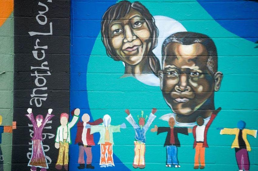 All Different Colors Canada City Civil Rights  Grafitti Street Art Togheter Vancouver