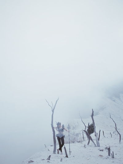 Sad. Winter Outdoors People Day Fog Beauty In Nature Model Landscape Nature EyeEmNewHere The Minimalist - 2019 EyeEm Awards The Minimalist - 2019 EyeEm Awards