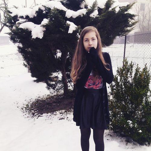 Cold Winter ❄⛄ Zima Winter Hi! Blackandwhite Dress Love Cold Zimno Girl