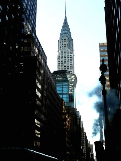 Chrysler Building Architecture Skyscraper Building Exterior Built Structure Tall - High City Modern Low Angle View Tower Office Building Travel Destinations Downtown District No People Urban Skyline Sky