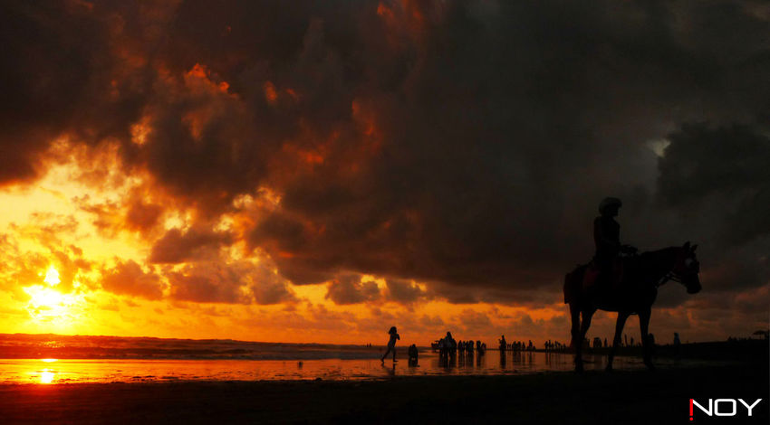 Atmospheric Mood Beach Beautiful Nature Cloud Cloud - Sky Cloudscape Dramatic Sky Eye Em Gallery EyeEm Indonesia Holiday Holiday Trip Inoy Jogjakarta Landscape Moody Sky Nice Day Nikon Nikon D5100  Nikonphotography Outdoors Parangtritisbeach Relaxing Silhouette Sky Sunset