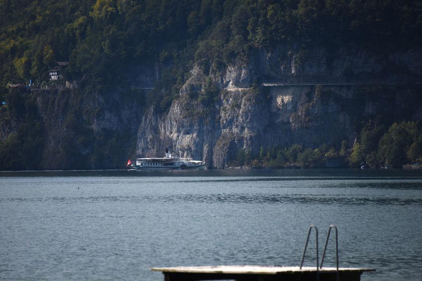 Berge Dampfschiff Panorama Thunersee Beauty In Nature Bls Scenics Steamboat Water