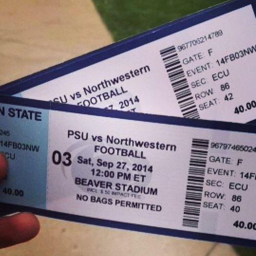 So excited!!!! ❤️❤️❤️ Tickets Pennstatefootball Blue White Game Football Excited