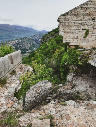 Panoramic View Ruins Architecture Broken Structure Building Exterior Built Structure Collapsed Building Diminishing Perspective Fortress History Military Installations Nature No People Outdoors Rock Scenics - Nature Stone Wall Stones View From Above