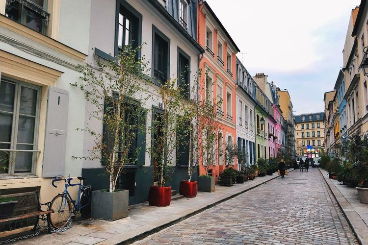 Paris Streets Of Paris Rue Crémieux Building Exterior Built Structure Architecture City Building Residential District Nature