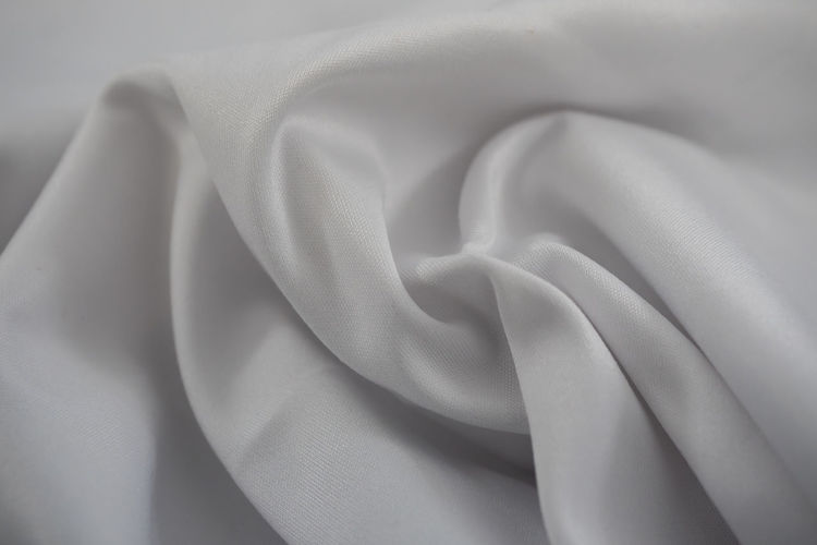 High angle view of white fabric