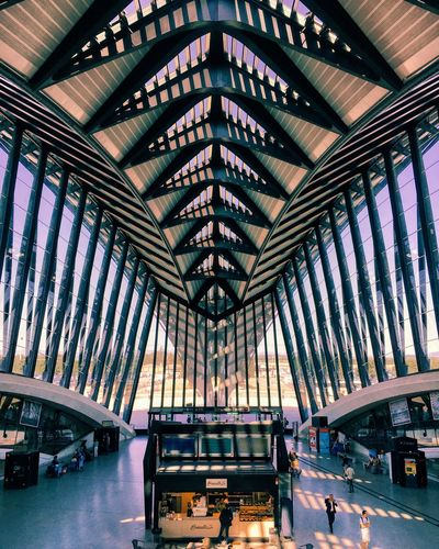 NEF 🍃✈️ Architecture Indoors  Built Structure Modern Day City No People