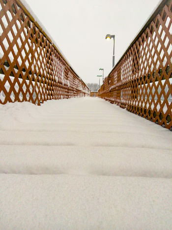 Winter Walkway Cloudy Snow Brown Calm Peaceful Day Outdoors No People Sky Architecture