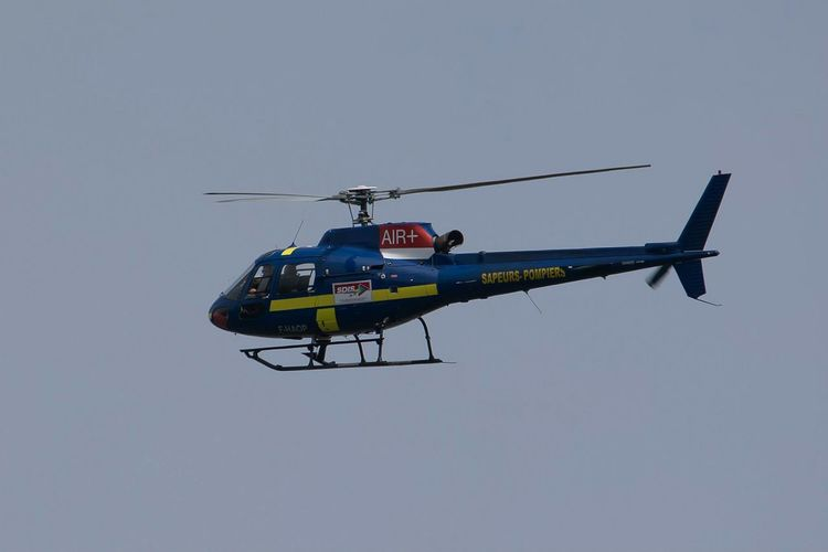 Eurocopter As 350 B2 Ecureuil Helicoptere Pompiers Bomberos Incendie Fireman Cestas Foret Forest