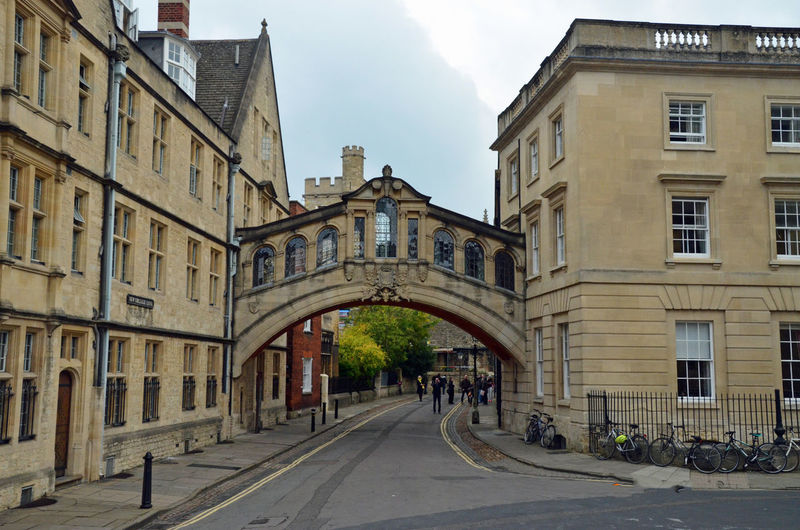 Oxford city Architecture Building Building Exterior Built Structure City Day Direction Footpath Incidental People Long Nature Old Outdoors Residential District Road Sign Sky Street The Way Forward Transportation Window