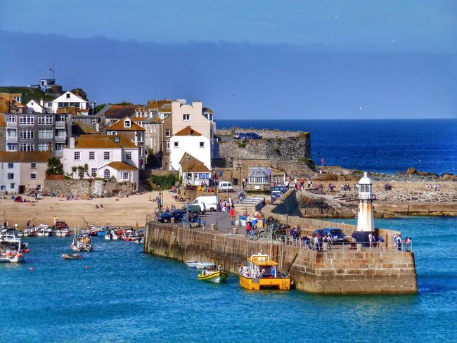 St Ives St Ives Bay St Ives Harbour Cornwall Seascape Seaside Harbour Harbour View Boats Lighthouse Landscape Landscape_Collection Landscape_photography Landscapes Buildings Town Architecture Jetty Landscapes With WhiteWall Picture Perfect Nature As Artist Fishing Village The KIOMI Collection Blue Wave