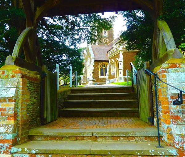 Sandringham Sandringham Church Graveyard Beauty Archway Steps Church