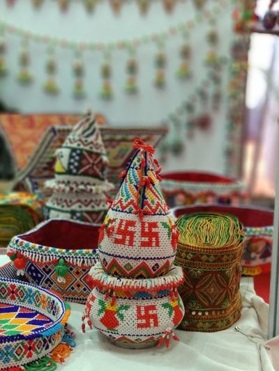 Beautifully crafted... Kalash Exibition Center Exebithion Tradition Close-up Handmade Craft Product Embroidery ArtWork Sewing Item Craft