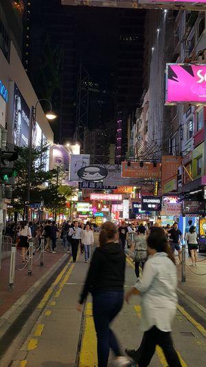Night Photography Street Photography One Night At Certral Hong Kong City Lights Enjoying Holiday