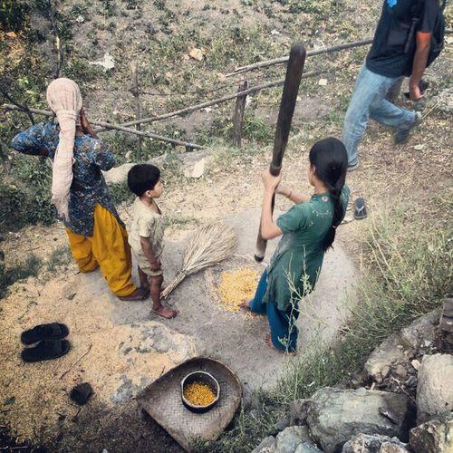 Grinder Corn Flour Village Rishikesh India