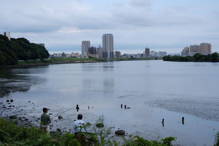 Edogawa River FUJIFILM X-T2 Japan Japan Photography River View Riverside Cloud - Sky Day Fujifilm Fujifilm_xseries Ichikawa Nature River Sky Water X-t2 市川 江戸川 江戸川河川敷