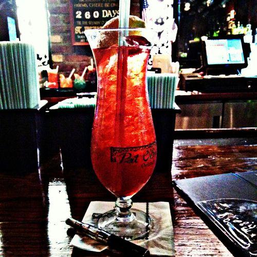 Pat O'Brien, CityWalk , 4th Of July , Hurricane, Rum, Liquor, Orlando, Florida, Summer2015, Vapor