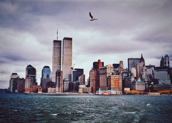 New York City Manhattan WTC WorldTradeCenter Skyscraper Architecture Building Exterior City Built Structure Cityscape Tower Urban Skyline Sky Downtown District Skyline Waterfront Travel Destinations Financial District  Cloud - Sky City Life Sea No People 1986 The Week On EyeEm EyeEmNewHere