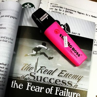 Day 13: The Real Enemy of Success is the Fear of Failure. • What really keeps you from success? 05102014 Chinkeetan Howtoinspireyourselftoinspireothers Latepost Romans 8:31 What, then, shall we say in response to these things? If God is for us, who can be against us? 2 Timothy 1:7 for God gave us a spirit not of fear but of power and love and self-control.