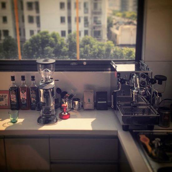 Good morning Shanghai.E61 Expobar Espresso Bluebottlecoffee Cestlavie Taiwanguyinchina
