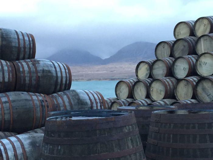Islay Whisky Cask Barrels Jura Scotch Whisky Distillery Scotland Hebrides Malt Whisky Whiskey Maturation Oak Barrels