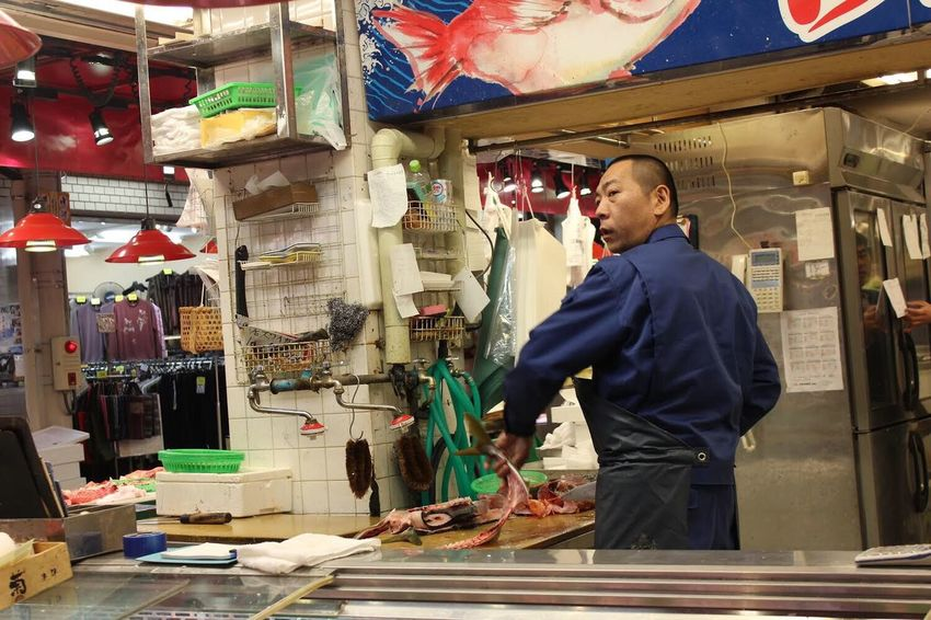 Finding New Frontiers Kanazawa Fish 白山 Fisherman Fish Market Working Hard Carnival Crowds And Details