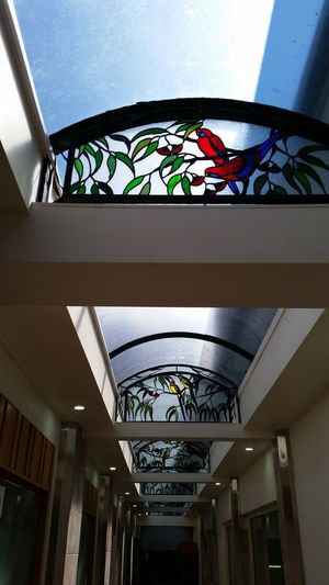 Architecture Ceiling Glass - Material Architectural Feature Multi Colored Design Architectural Design Arch Indoors  Built Structure