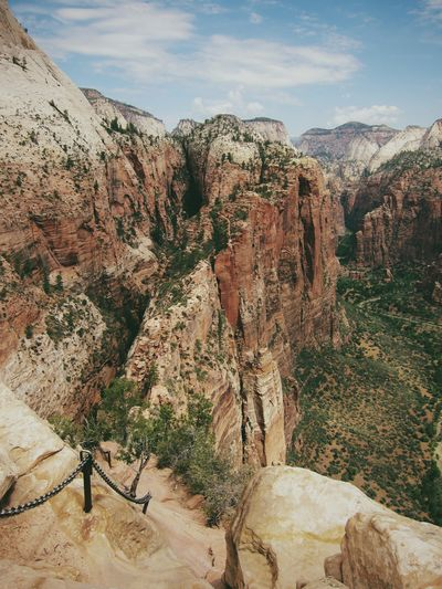 Idyllic View Of Zion National Park Against Sky