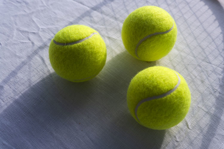 Close-up of green balls on ball