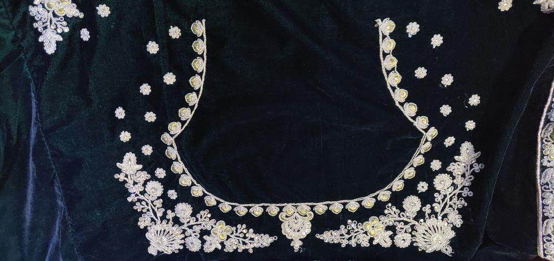 Textile Females Sequin Close-up
