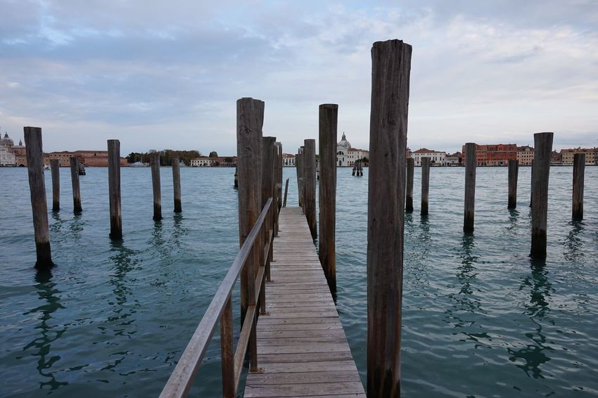 Sea Water Wood - Material Sky Wooden Post Pier Built Structure Pole No People Nature Wave Day Architecture Outdoors Cloud - Sky Beauty In Nature