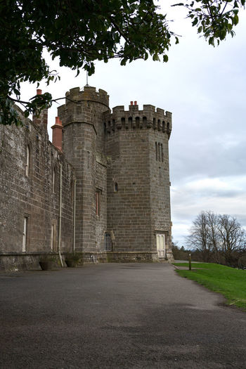 Balloch Castle Architecture Built Structure Building Exterior Sky The Past Tree History Plant Nature Building No People Direction Travel Destinations Cloud - Sky The Way Forward Day Travel Road Fort Old Outdoors