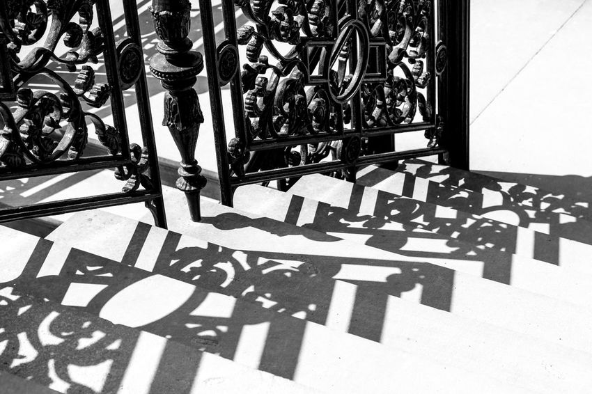 Black And White Black And White Photography Blackandwhite Day No People Outdoors Shadow Steps Sunlight