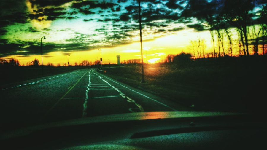 Just drive... On The Road Sunset Onward Snapseed
