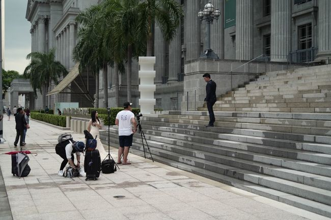 """Full Length Men Walking Adult People Built Structure Outdoors Building Exterior Architecture Only Men Day Adults Only Women Friendship Togetherness Real People Young Adult City Singaporestreetphotography Visualstoryteller Leica SL """" Love in Action """""""