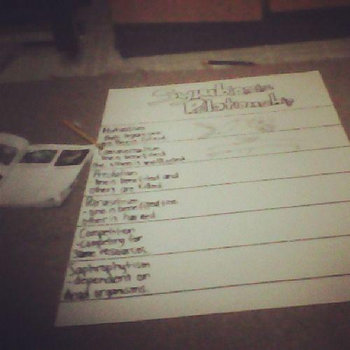 Working hard at my project in science hahahahahah last minute pa Sunday kci ehhhh hahahaha......!!!! Pagodnaako