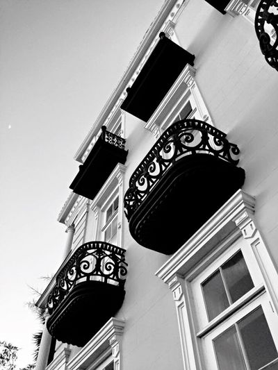 Wrought Iron Balcony Black And White Charleston SC Lookingup