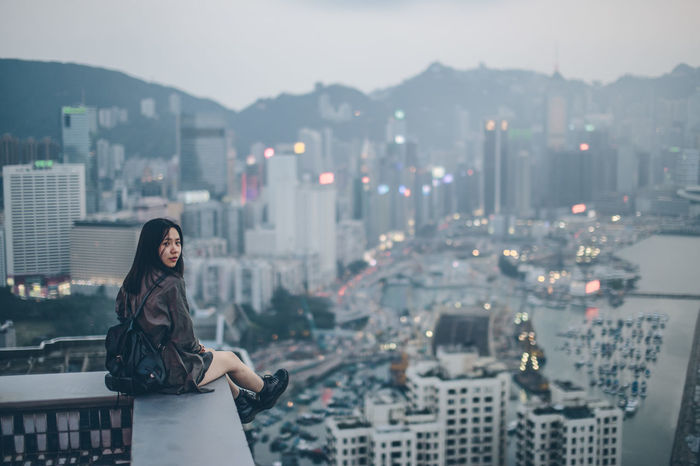 My Home Kong 50mm 6D Bokeh Building Buildings Canon City Cityscapes DSLR Extreme Full Frame Girl Hk Hong Kong Look Model Night Photography Photooftheday Rooftop Rooftop View  Sigma Sky Sunset Urban