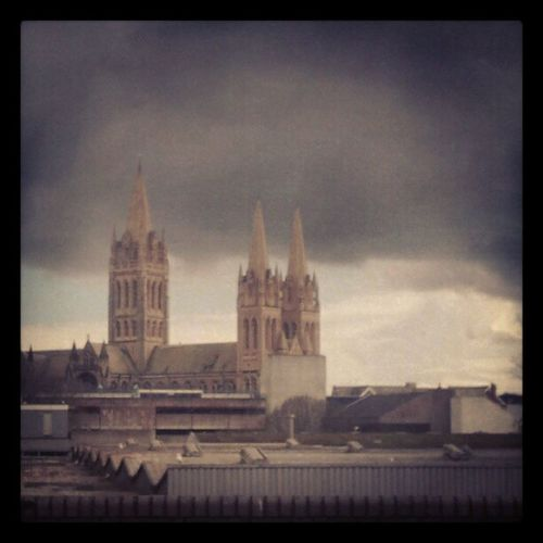 Stormy Weather Cloudsoverthetown Truro cathedralrainingagain