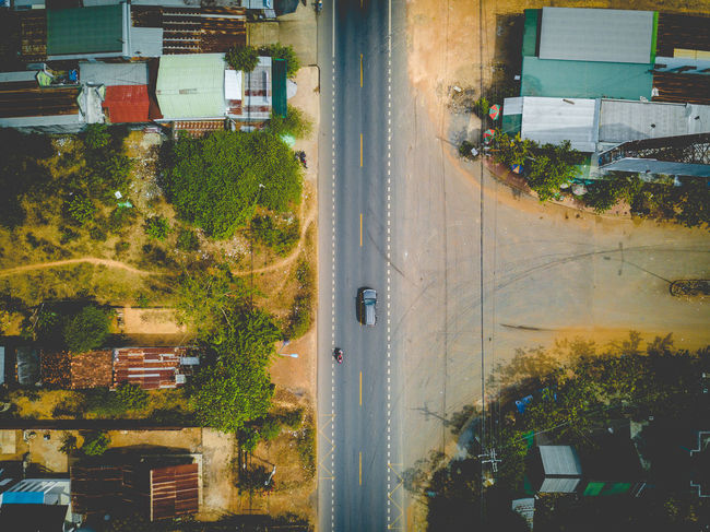 DJI X Eyeem Drone  Vietnam Architecture Building Exterior Built Structure Car Day Dronephotography Land Vehicle Mode Of Transport Nature No People Outdoors Road Sky Skypixel Transportation Tree Water